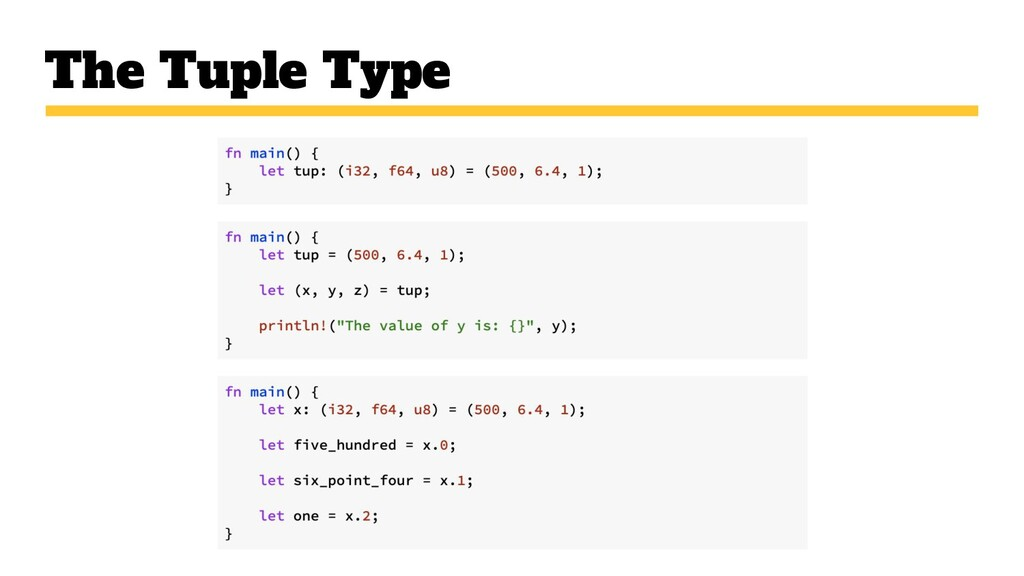 The Tuple Type