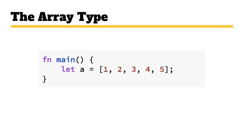 The Array Type
