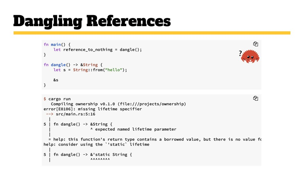 Dangling References