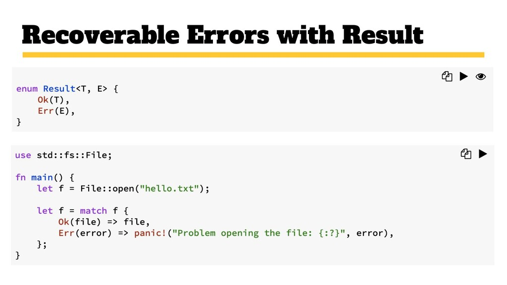 Recoverable Errors with Result