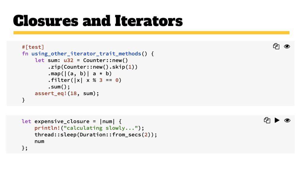 Closures and Iterators