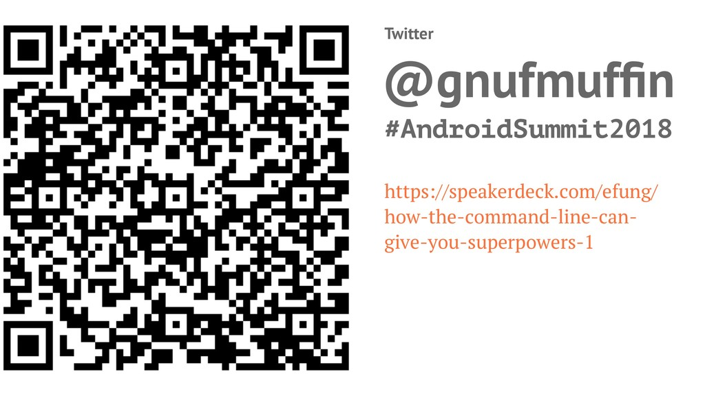 Twitter @gnufmuffin #AndroidSummit2018 https://s...