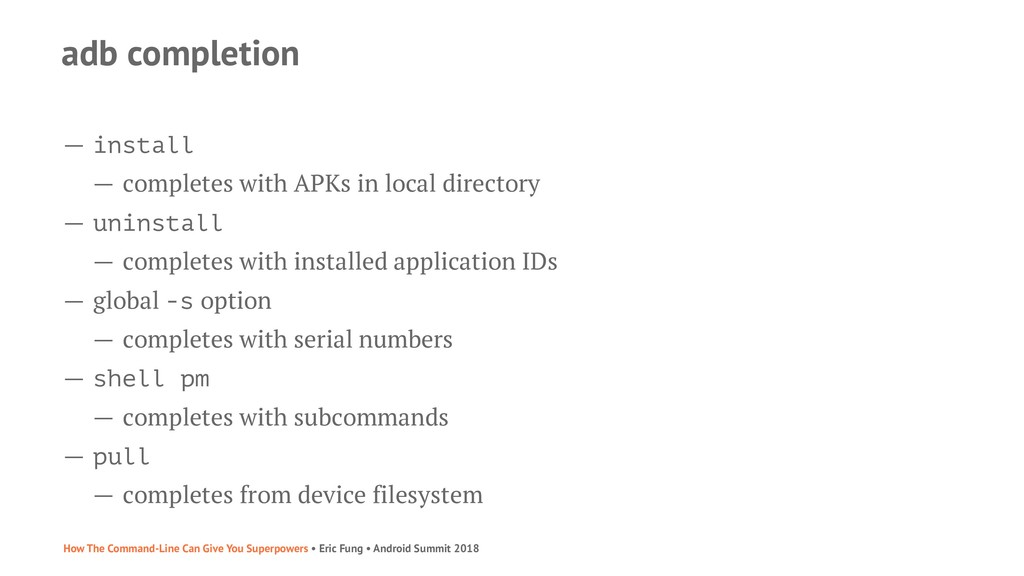 adb completion — install — completes with APKs ...
