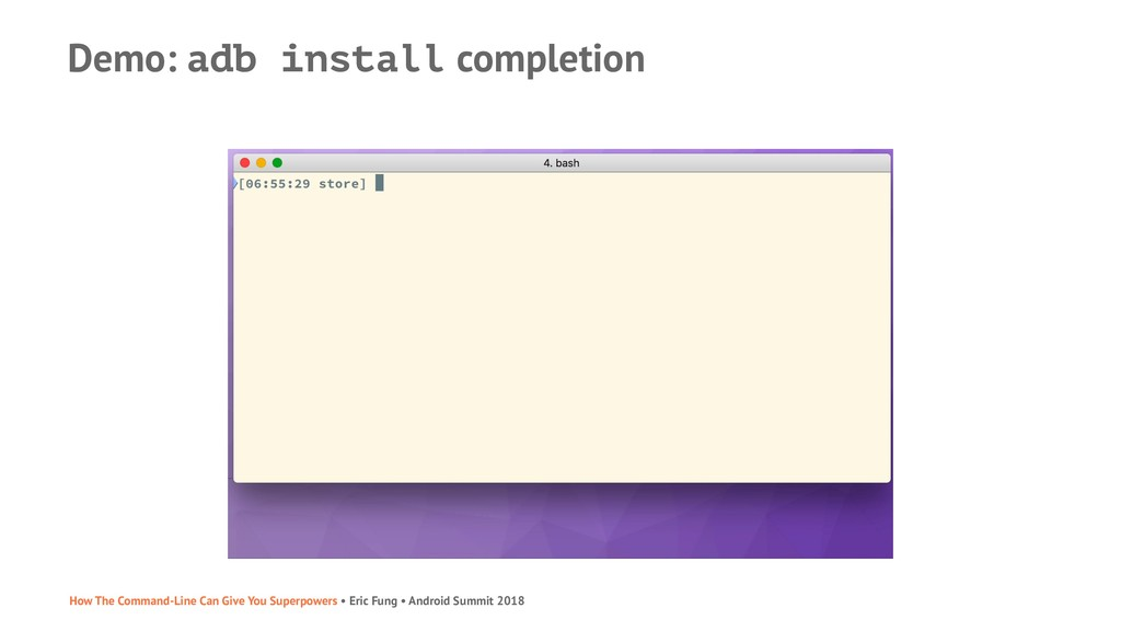Demo: adb install completion How The Command-Li...