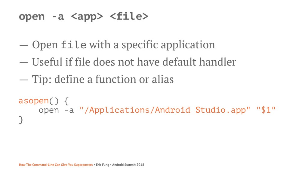 open -a <app> <file> — Open file with a specifi...