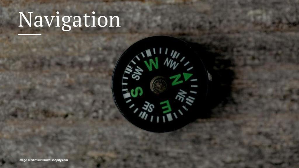 Navigation Image credit: burst.shopify.com