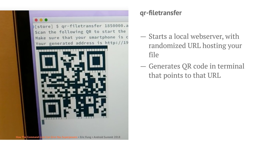 qr-filetransfer — Starts a local webserver, with...