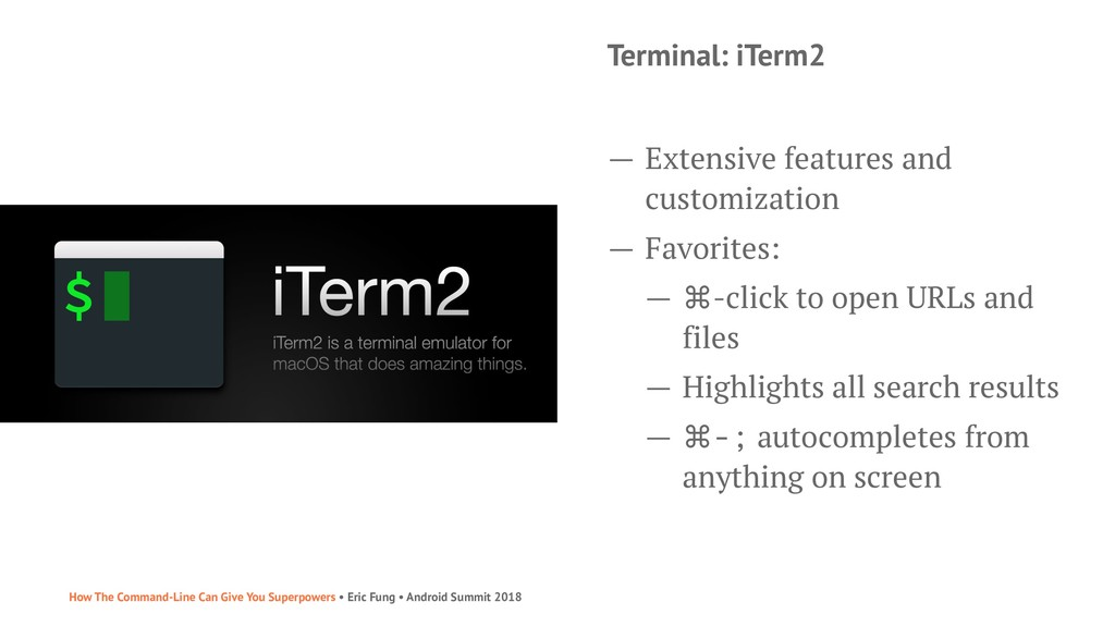 Terminal: iTerm2 — Extensive features and custo...
