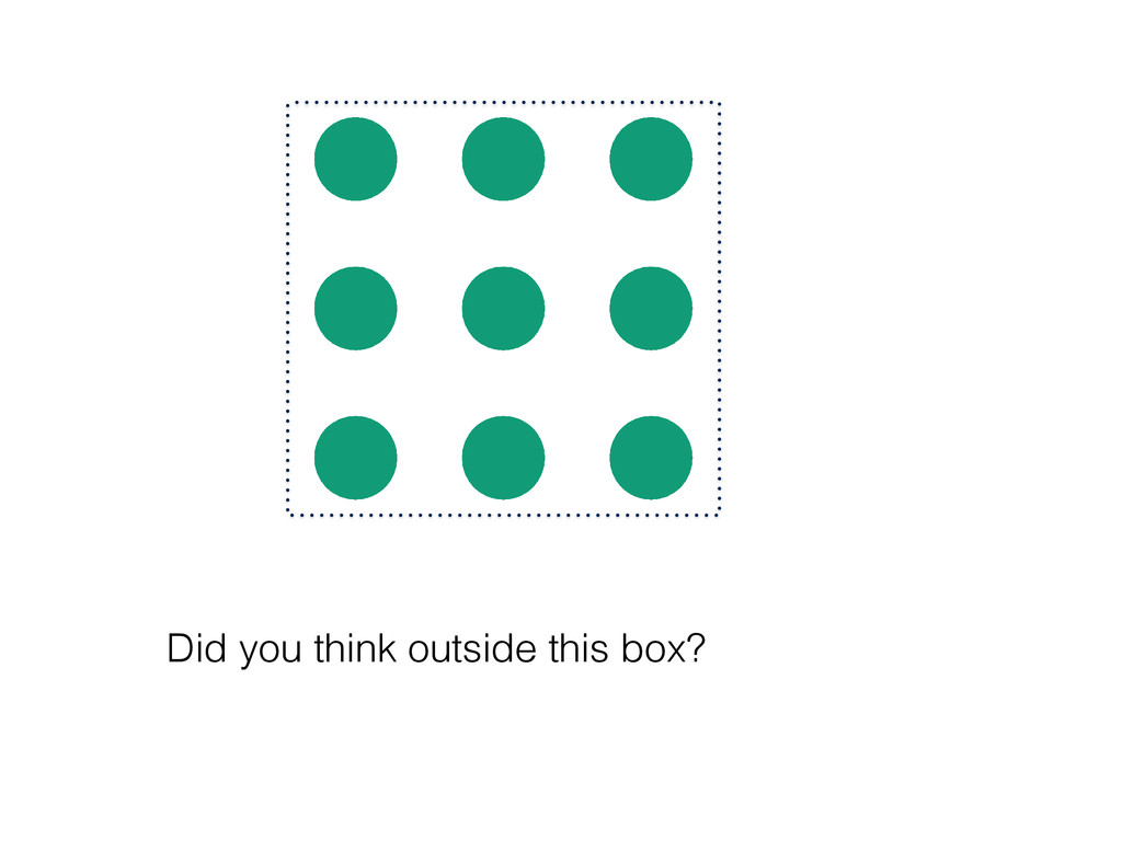 Did you think outside this box?