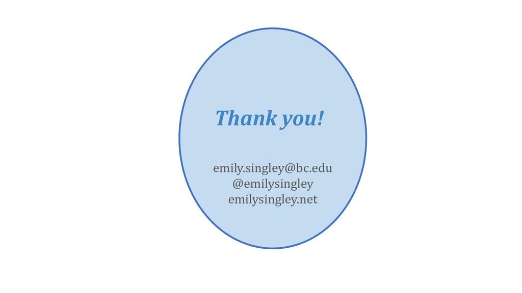 Thank you! emily.singley@bc.edu @emilysingley e...