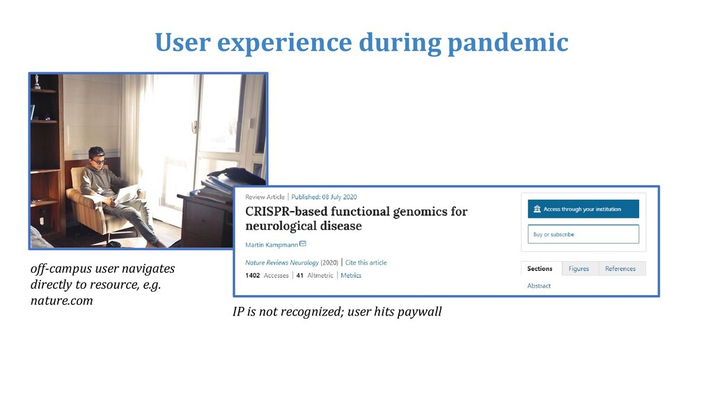 User experience during pandemic off-campus user...