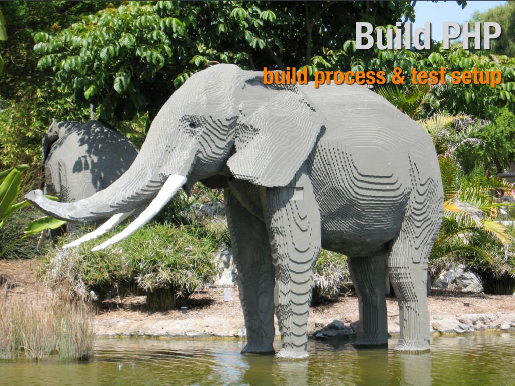 Build PHP build process & test setup