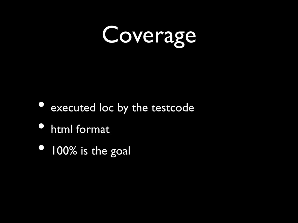 Coverage • executed loc by the testcode • html ...