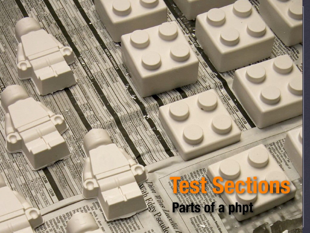 Test Sections Parts of a phpt