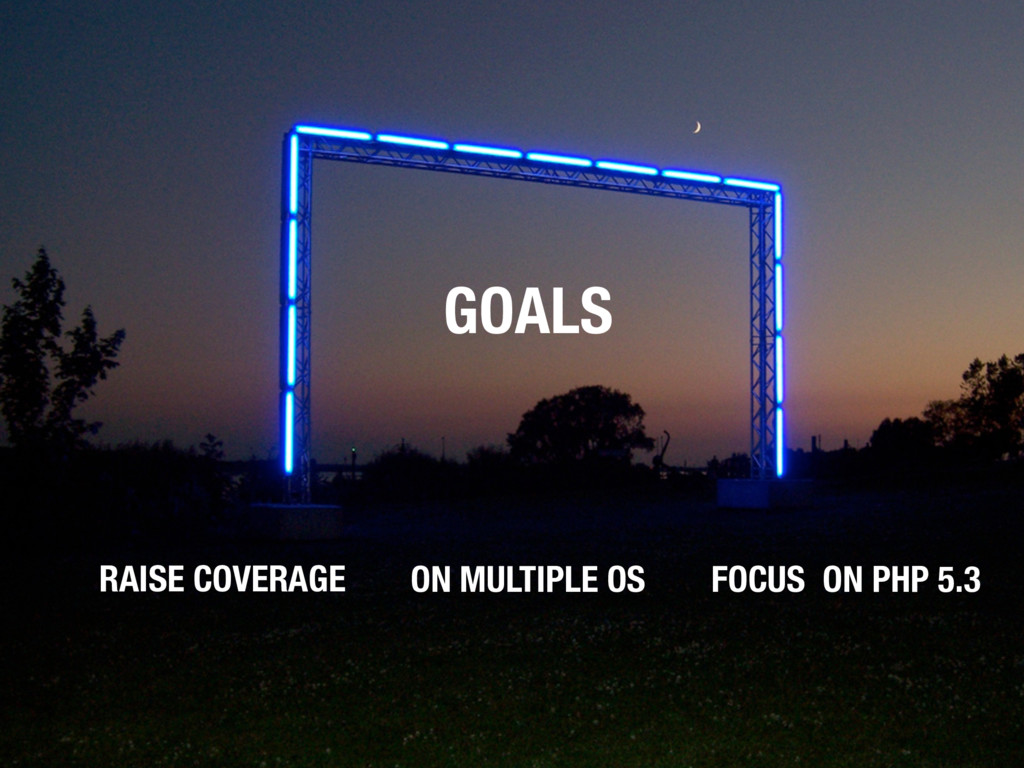 GOALS RAISE COVERAGE ON MULTIPLE OS FOCUS ON PH...