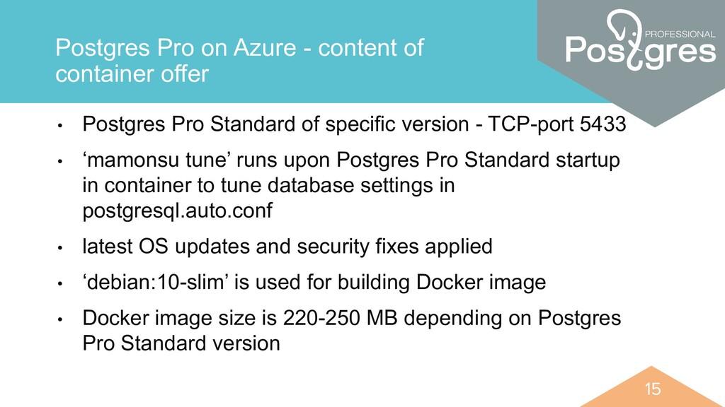 15 15 Postgres Pro on Azure - content of contai...