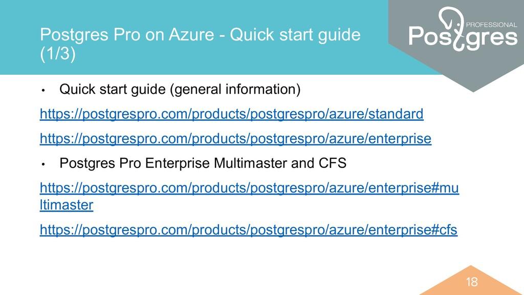 18 18 Postgres Pro on Azure - Quick start guide...