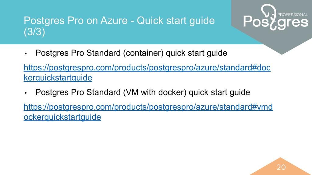 20 20 Postgres Pro on Azure - Quick start guide...