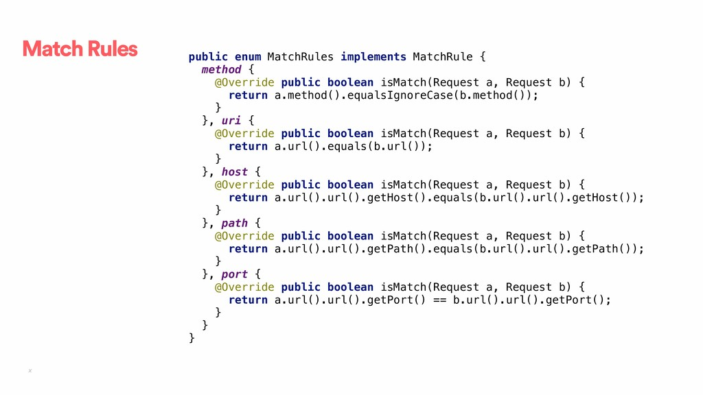 x Match Rules public enum MatchRules implements...