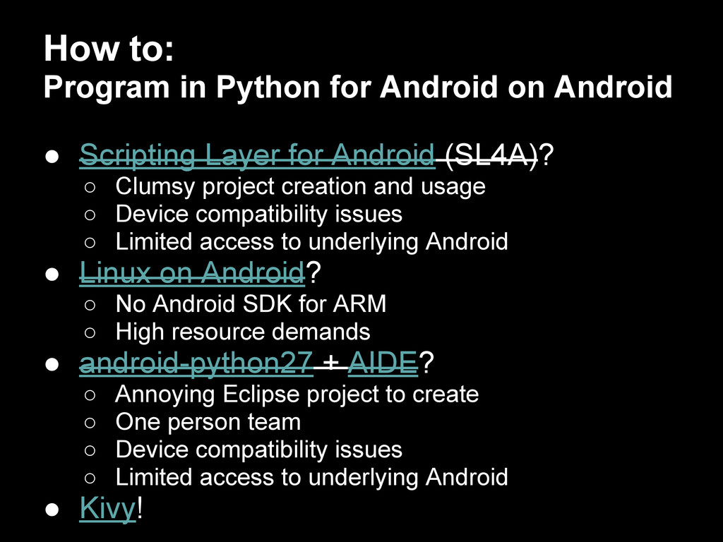 How to: Program in Python for Android on Androi...