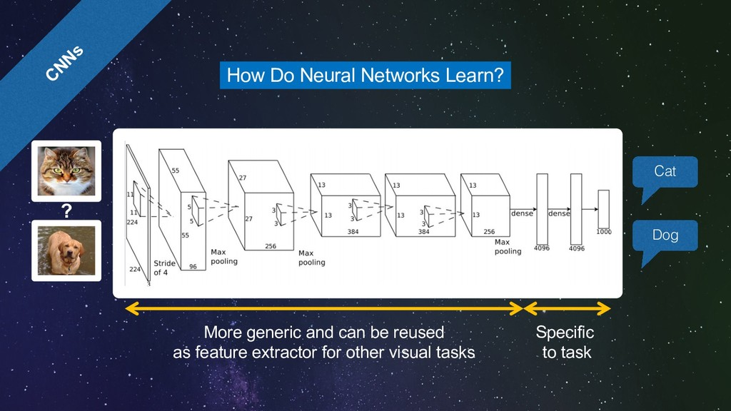 CNNs How Do Neural Networks Learn? ? More gener...