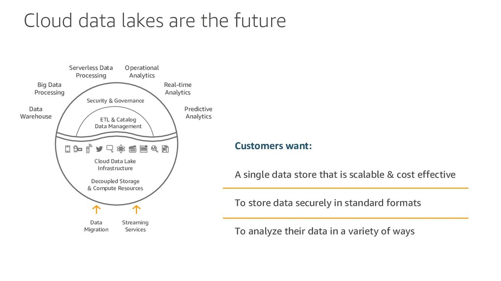 Cloud data lakes are the future Customers want:...