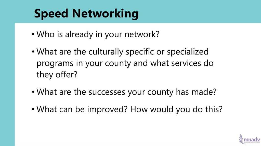 Speed Networking • Who is already in your netwo...