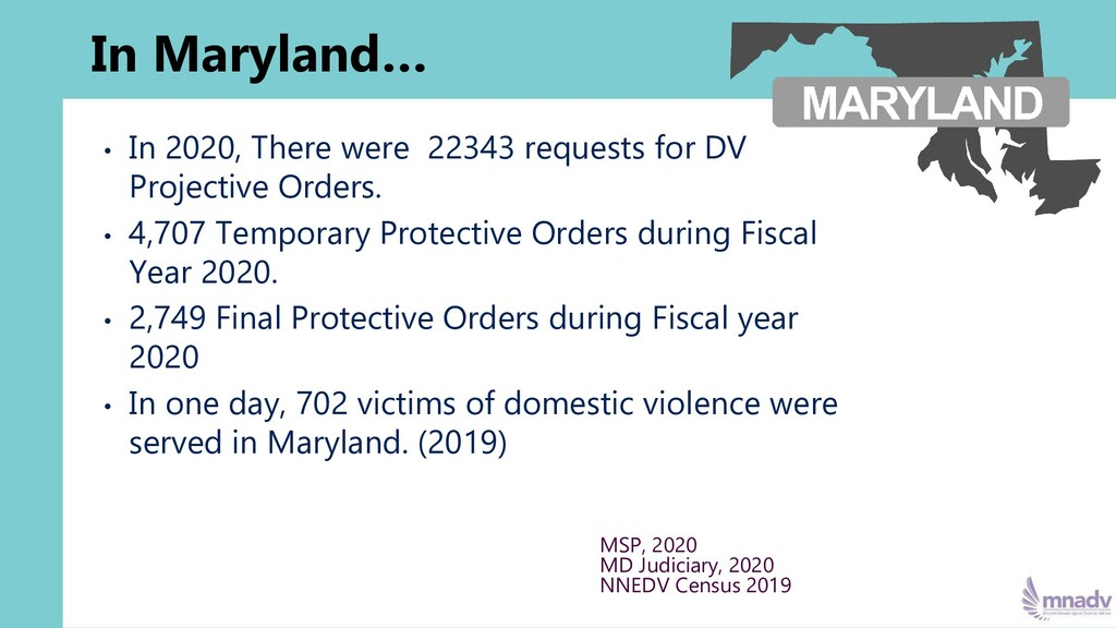 In Maryland… • In 2020, There were 22343 reques...