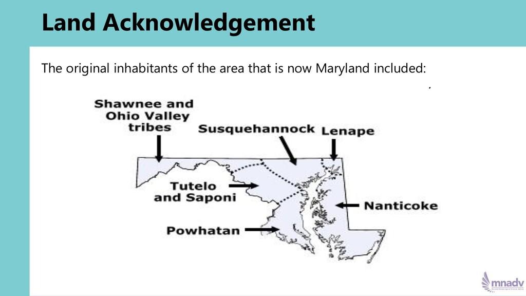 Land Acknowledgement The original inhabitants o...
