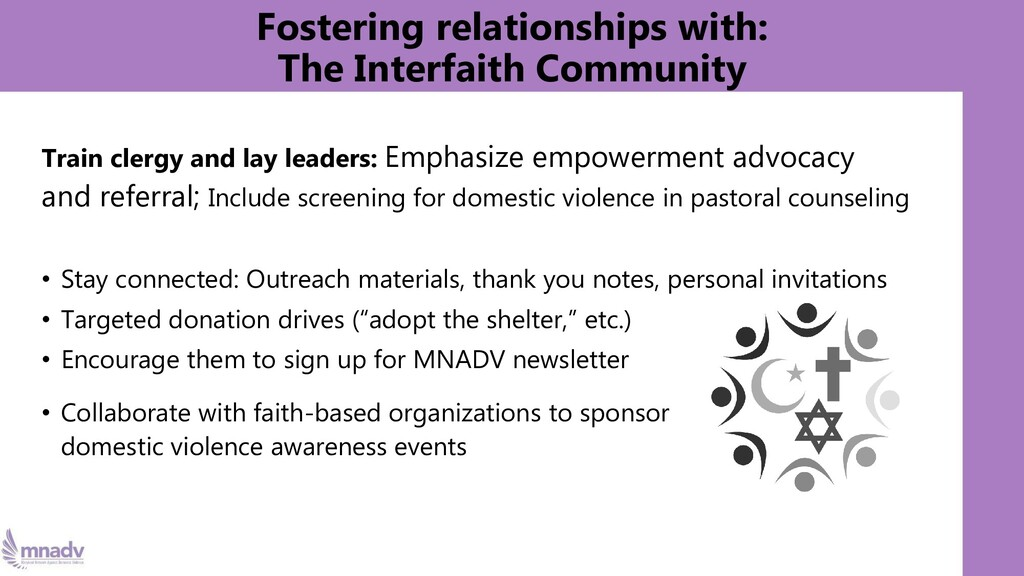 Fostering relationships with: The Interfaith Co...