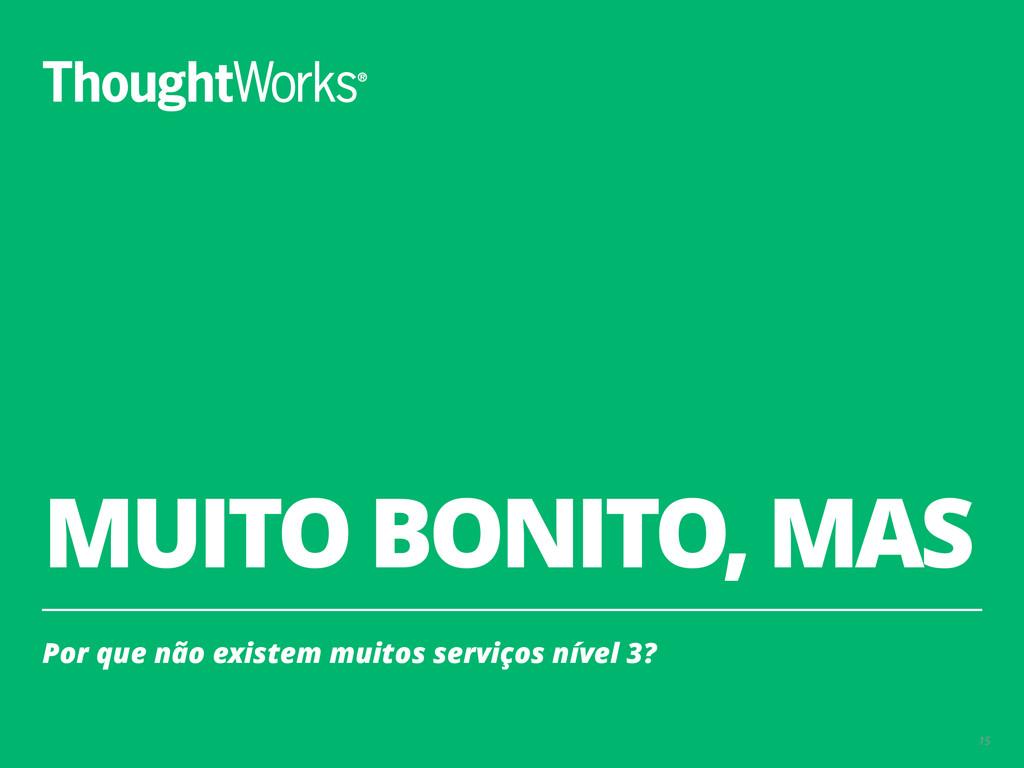 MUITO BONITO, MAS Por que não existem muitos se...