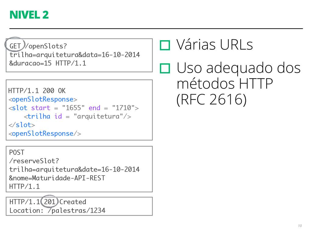 NIVEL 2 ▫︎Várias URLs ▫︎Uso adequado dos método...
