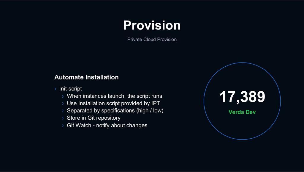 Provision Private Cloud Provision Verda Dev 17,...