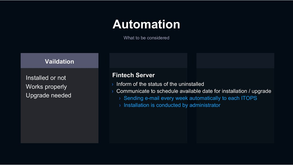 Automation What to be considered Vaildation Ins...
