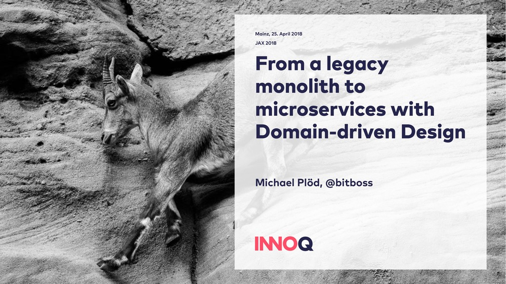 From a legacy monolith to microservices with Do...
