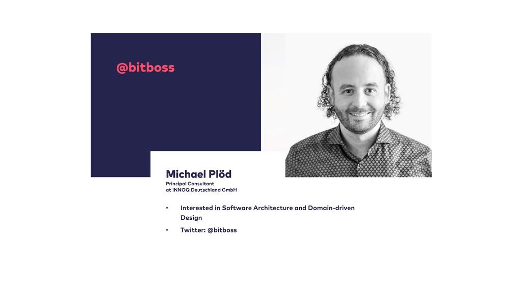 @bitboss Michael Plöd Principal Consultant at ...