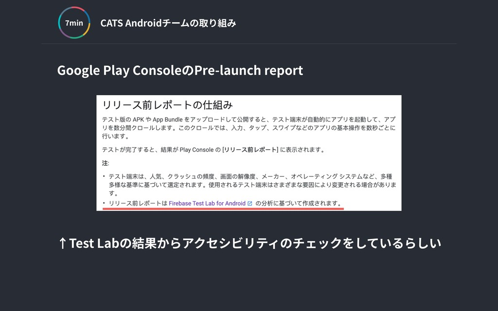CATS Androidチームの取り組み min Google Play ConsoleのPr...