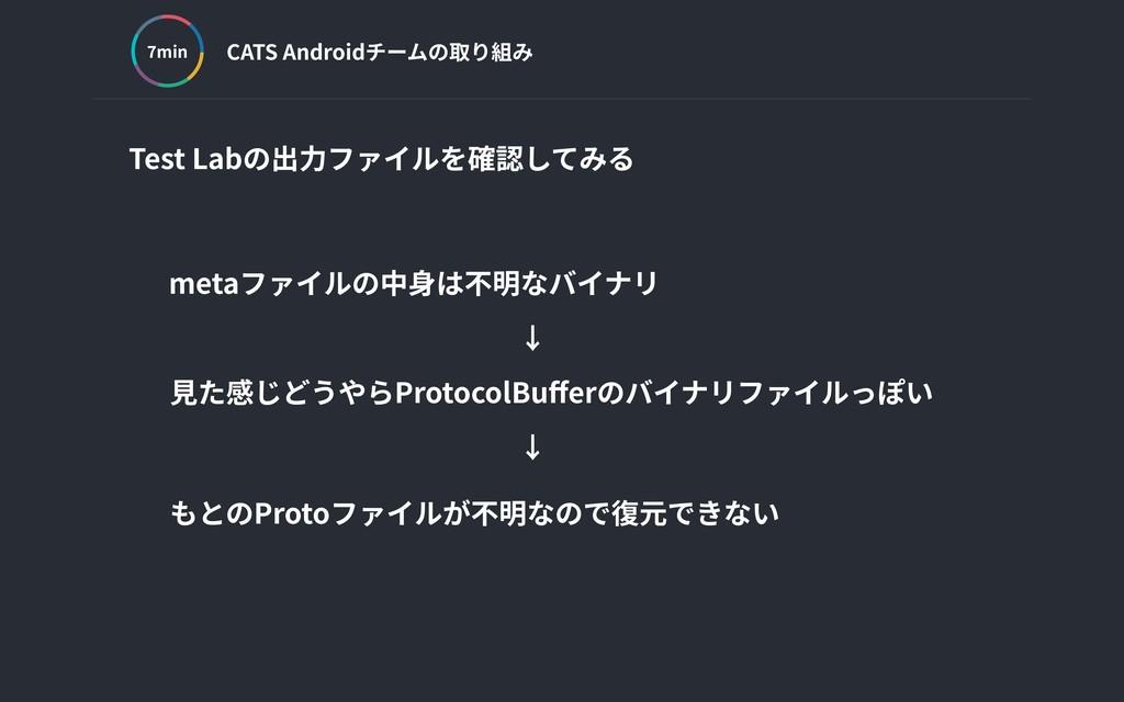 CATS Androidチームの取り組み min Test Labの出⼒ファイルを確認してみる...
