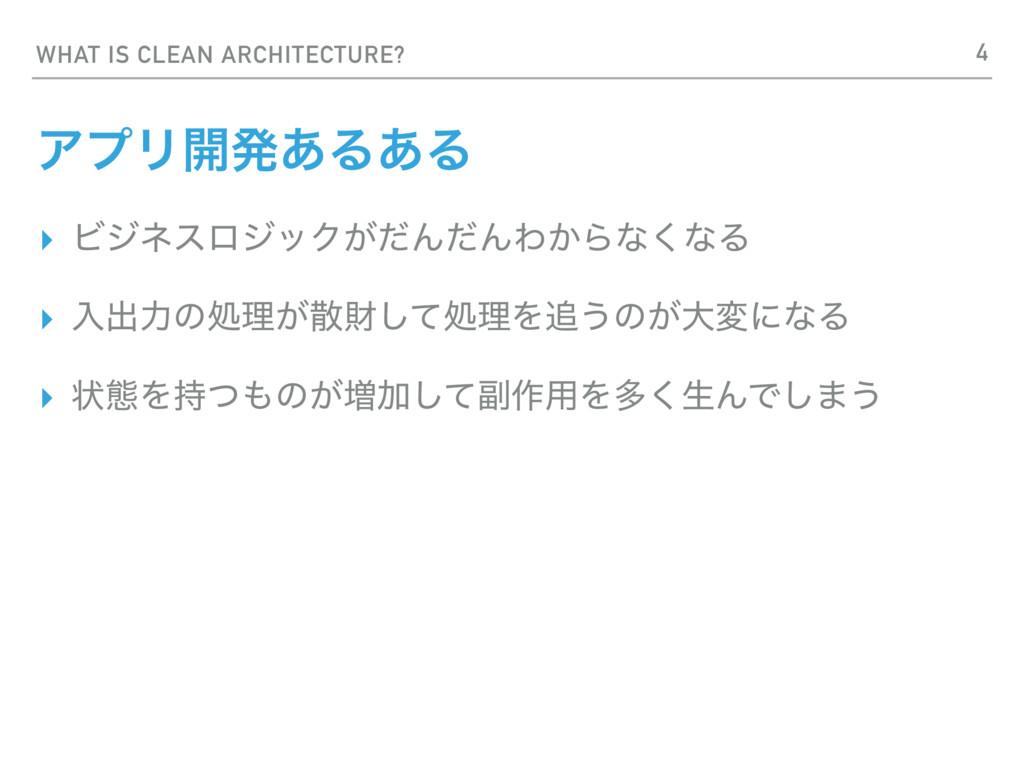 WHAT IS CLEAN ARCHITECTURE? ΞϓϦ։ൃ͋Δ͋Δ ▸ Ϗδωεϩδο...