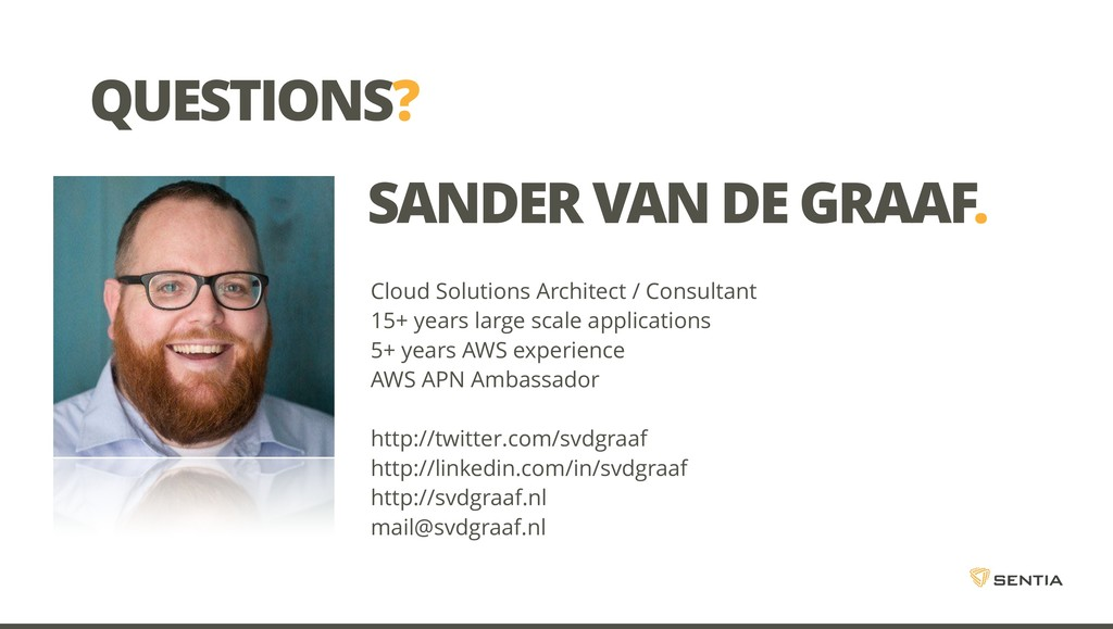 QUESTIONS? Cloud Solutions Architect / Consulta...