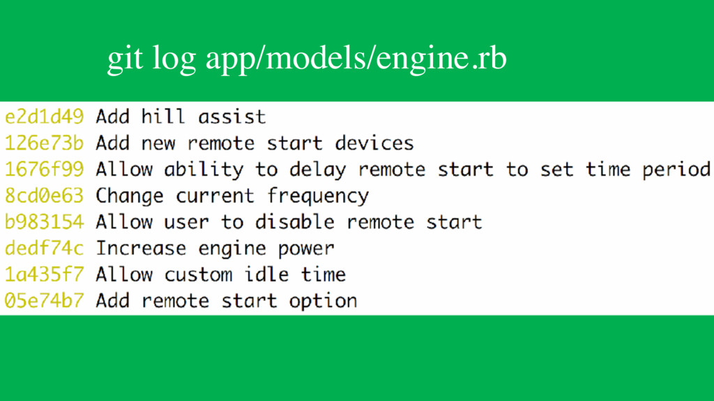 git log app/models/engine.rb