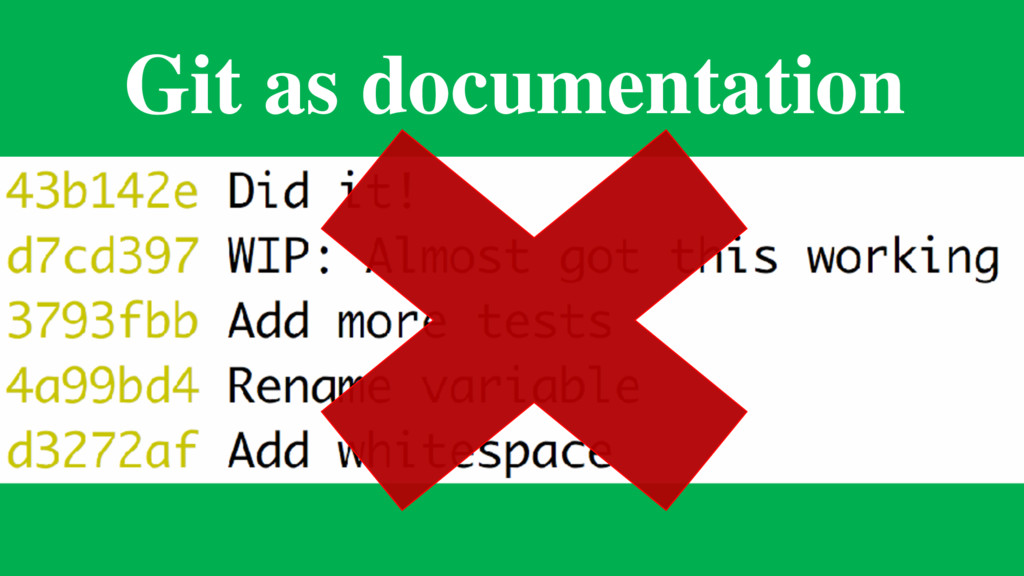 Git as documentation