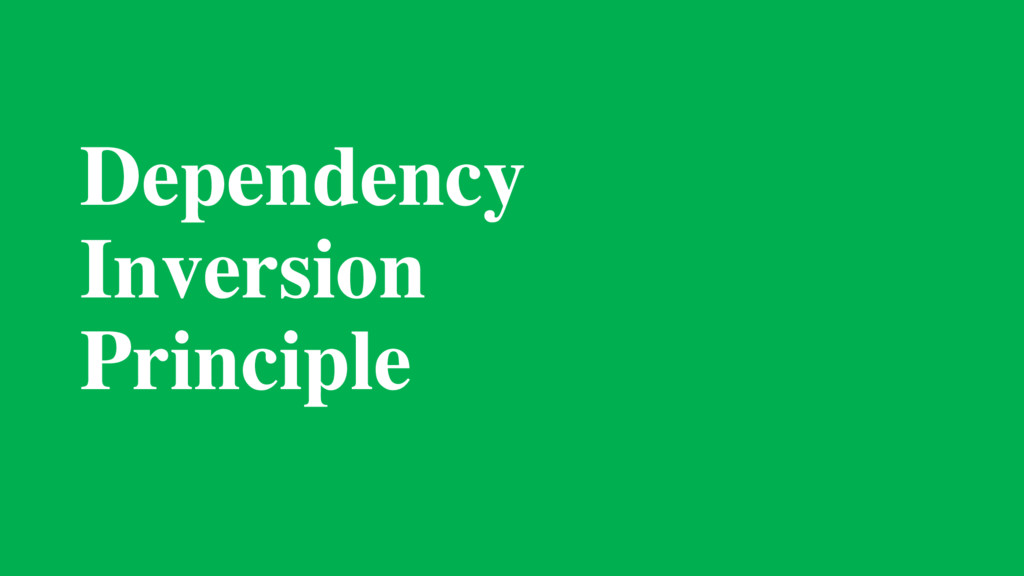 Dependency 