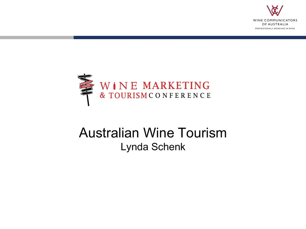 Australian Wine Tourism Lynda Schenk