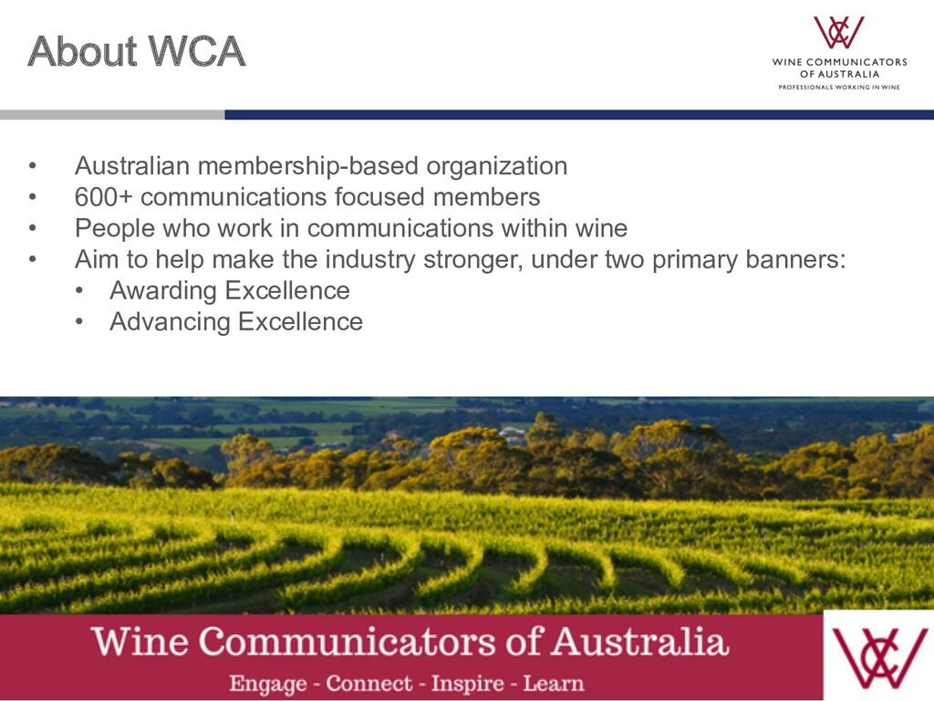 About WCA • Australian membership-based organiz...