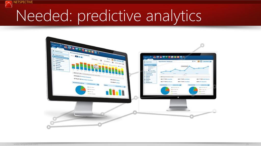 NETSPECTIVE www.netspective.com 26 Needed: pred...