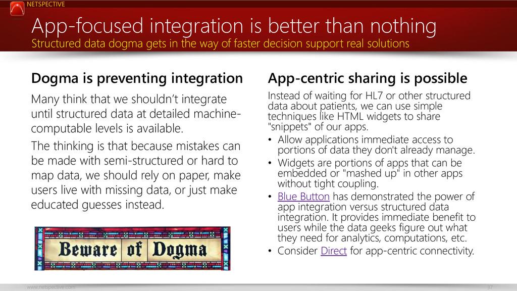 NETSPECTIVE www.netspective.com 37 Dogma is pre...