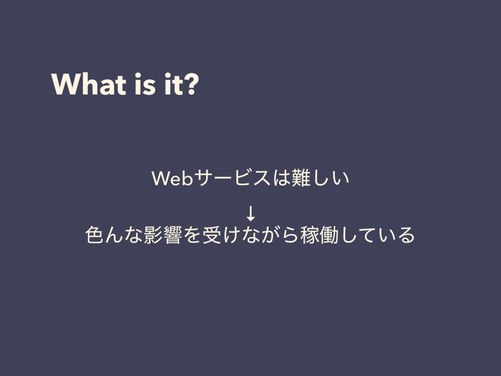 What is it? WebαʔϏε͍͠ ↓ ৭ΜͳӨڹΛड͚ͳ͕ΒՔಇ͍ͯ͠Δ