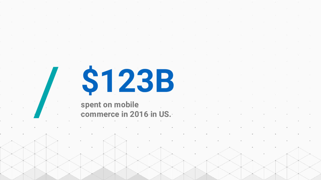 / $123B spent on mobile commerce in 2016 in US.