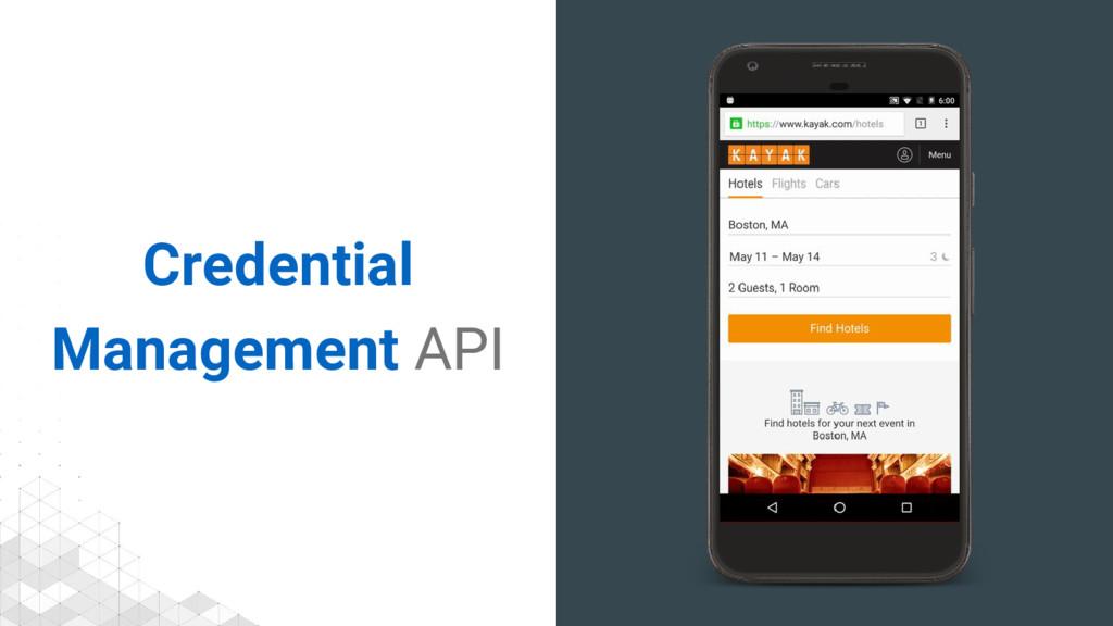 Credential Management API